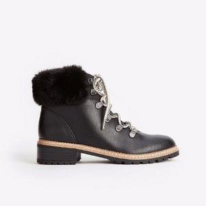 Faux Fur Hiker Boots